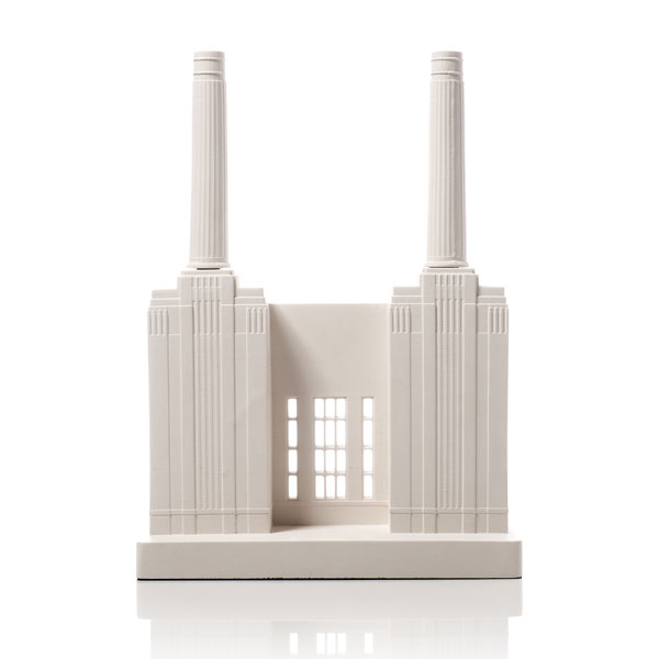 Battersea Power Station Model. Product Shot Front View. Architectural Sculpture by Chisel & Mouse