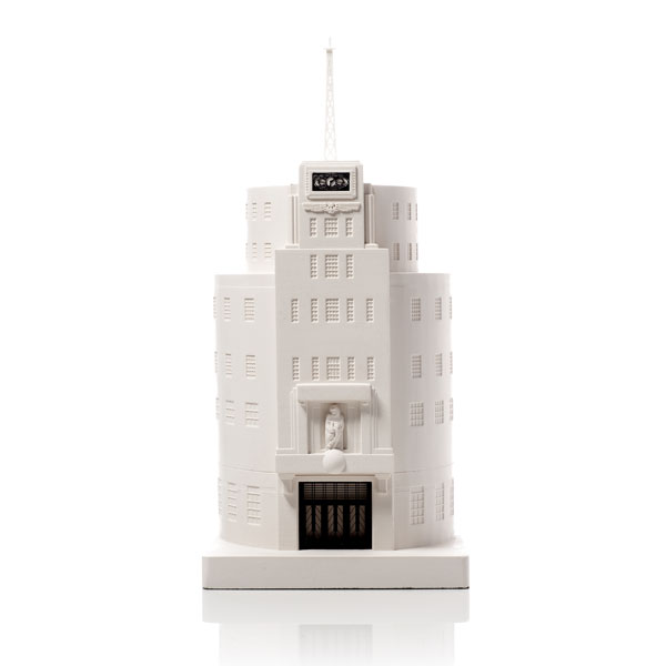 Broadcasting House Model. Product Shot Front View. Architectural Sculpture by Chisel & Mouse