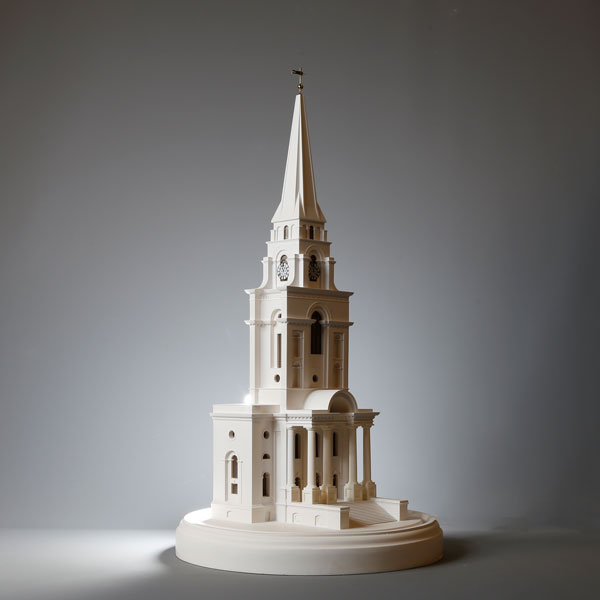 Christ Church, Hawksmoor, London. Product Shot Front View. Architectural Sculpture by Chisel & Mouse