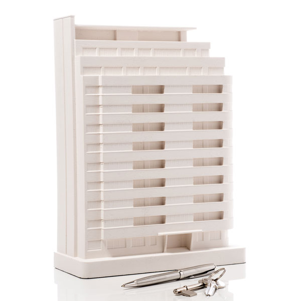 Embassy Court Model. Product Shot Front View. Architectural Sculpture by Chisel & Mouse