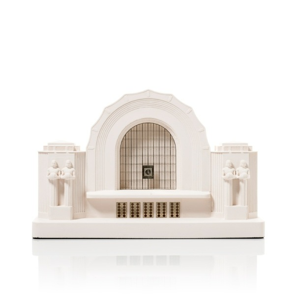 Helsinki Central Station Model. Product Shot Front View. Architectural Sculpture by Chisel & Mouse