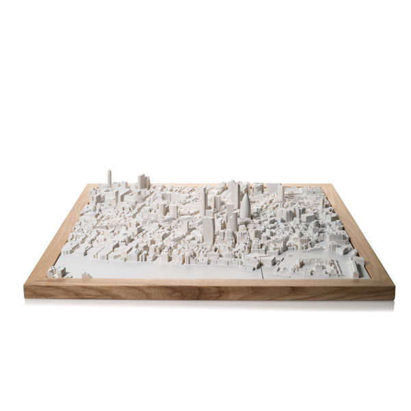 London Cityscape Perspex. Product Shot Front View. Architectural Sculpture by Chisel & Mouse