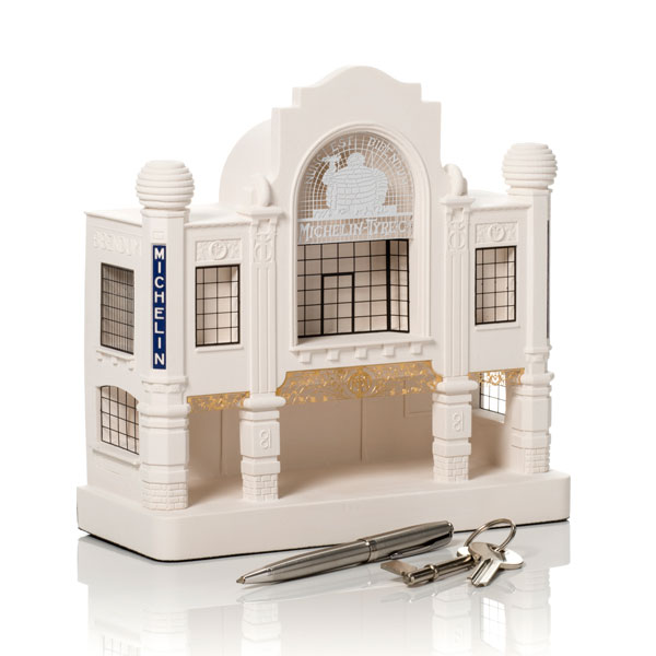 Michelin House Model. Product Shot Front View. Architectural Sculpture by Chisel & Mouse