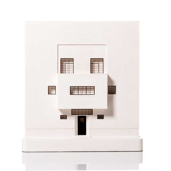 Moller House Model. Product Shot Front View. Architectural Sculpture by Chisel & Mouse