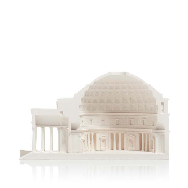Pantheon Model. Product Shot Front View. Architectural Sculpture by Chisel & Mouse