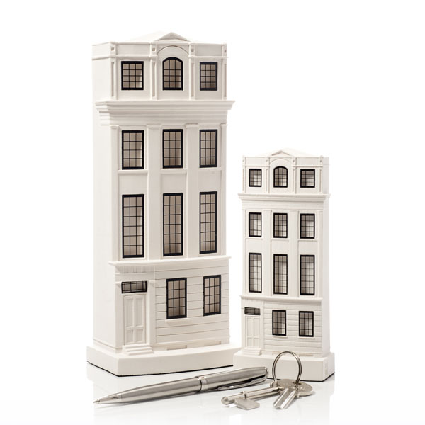 Regency Town House Model. Product Shot Front View. Architectural Sculpture by Chisel & Mouse