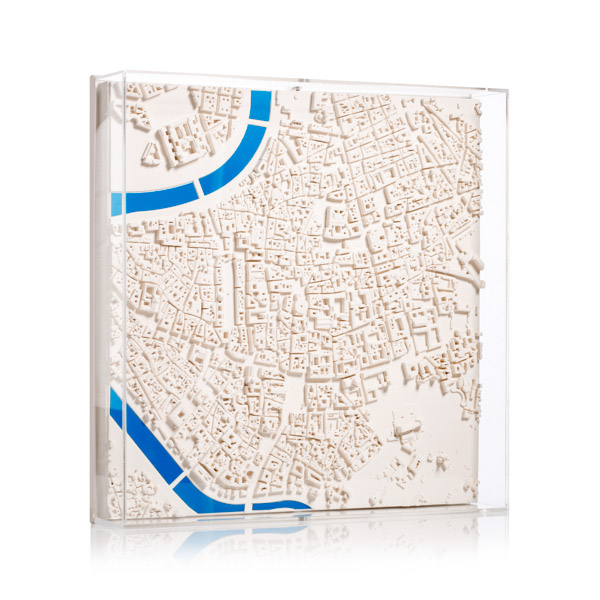 rome Cityscape Model. Product Shot Front View. Architectural Sculpture by Chisel & Mouse