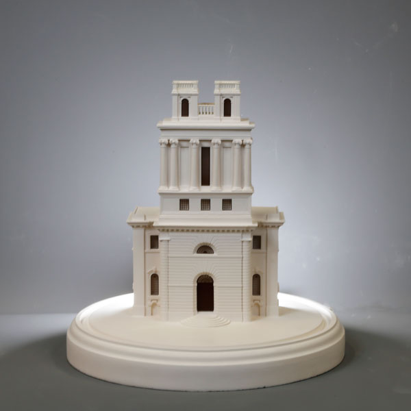 st mary woolnoth Model. Product Shot Front View. Architectural Sculpture by Chisel & Mouse