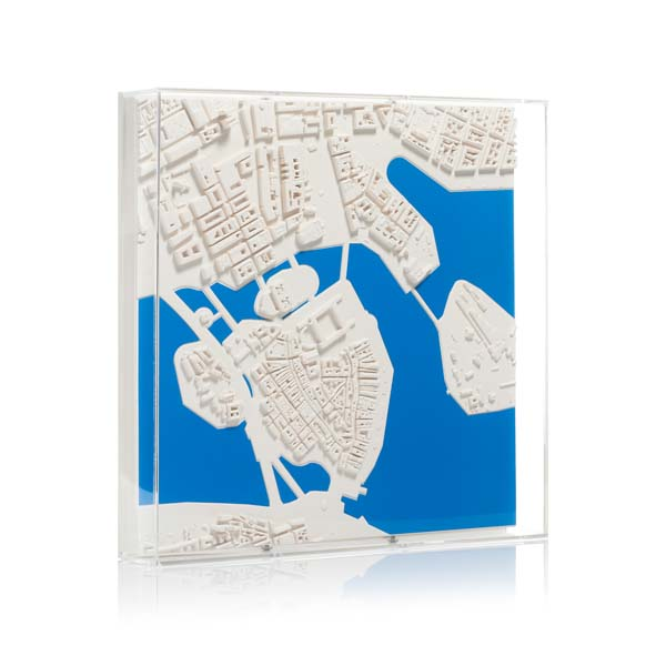 Stockholm Cityscape Framed 5000 Model. Product Shot Front View. Architectural Sculpture by Chisel & Mouse