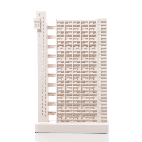 Trellick Tower Mini. Product Shot Front View. Architectural Sculpture by Chisel & Mouse