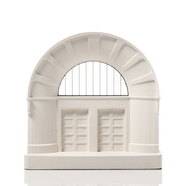 Whitechapel Art Gallery Model. Product Shot Front View. Architectural Sculpture by Chisel & Mouse
